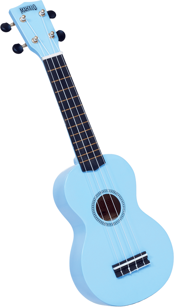 mahalo soprano ukulele light blue includes black gig bag harrison music. Black Bedroom Furniture Sets. Home Design Ideas