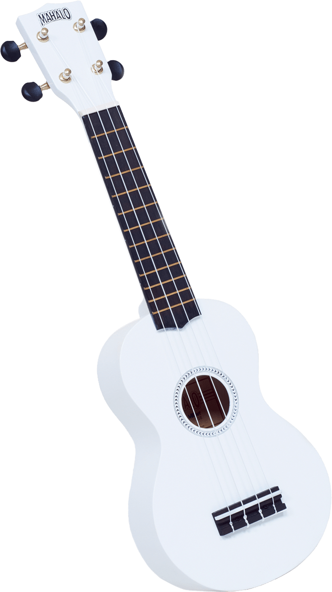 mahalo soprano ukulele white with black gig bag harrison music. Black Bedroom Furniture Sets. Home Design Ideas